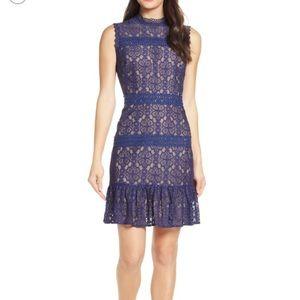 Blue lace dress. Only worn once.